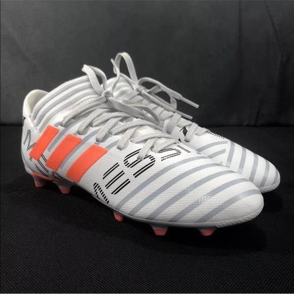 c59b56a4471 Adidas Nemeziz Messi 17.3 FG J White Soccer Cleats